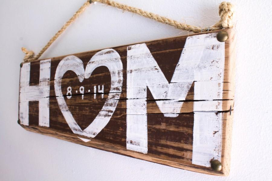 Rustic Wedding Decor Personalized Love Sign Beach Wedding Outdoor