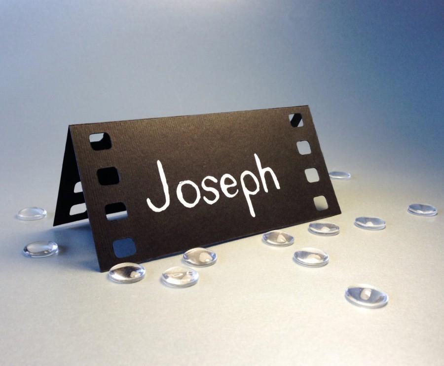 زفاف - 20 Place Cards, Cinema Film, Movie Themed, Holliwood, Original Calligraphy, Cutout, Scrapbook, Papercut by Naboko
