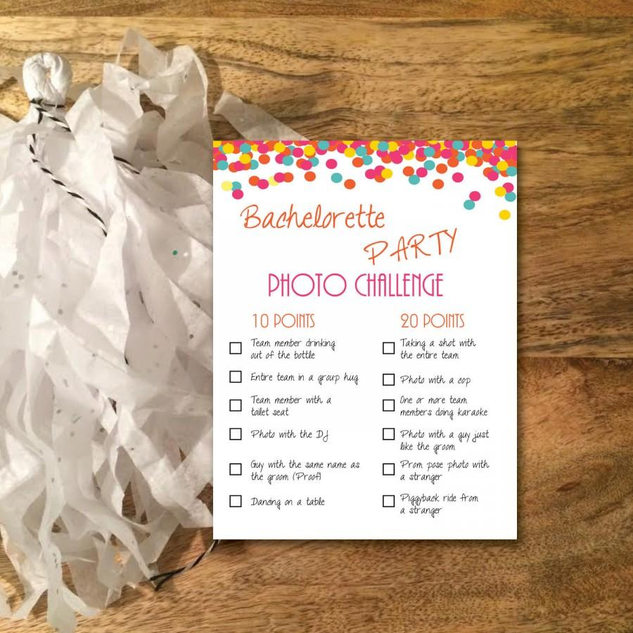 Instant Download / PDF: Bachelorette Party Game- Photo Challenge ...