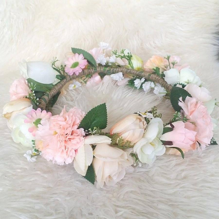 زفاف - I love.. WOODLANDS Coral Kisses Flower Crown