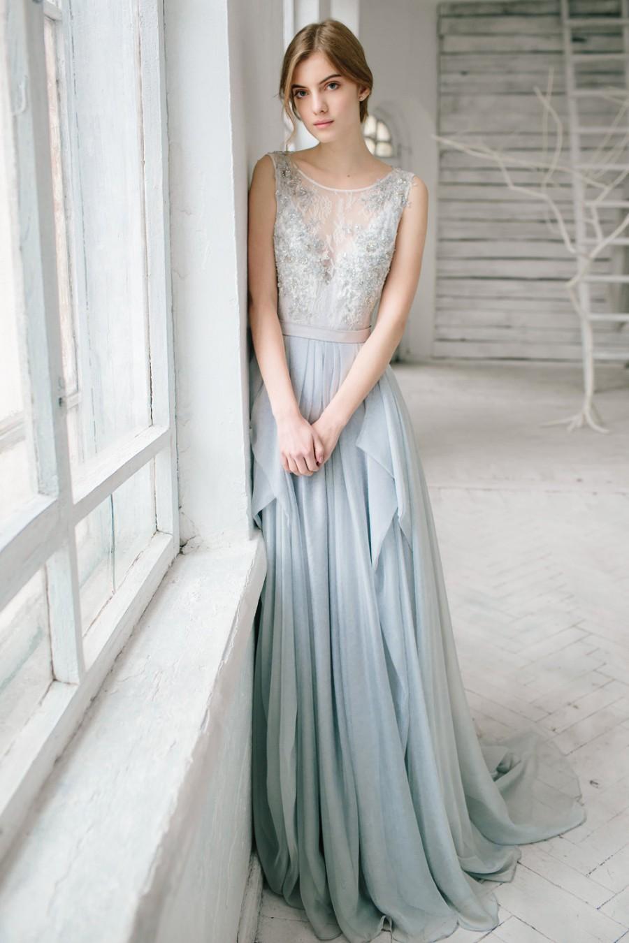 Свадьба - Silver grey wedding dress // Lobelia
