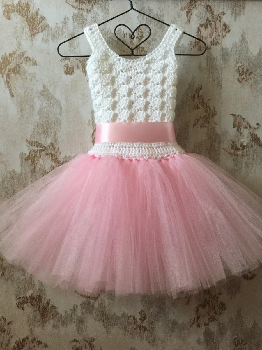 White toddler girl tutu dress.