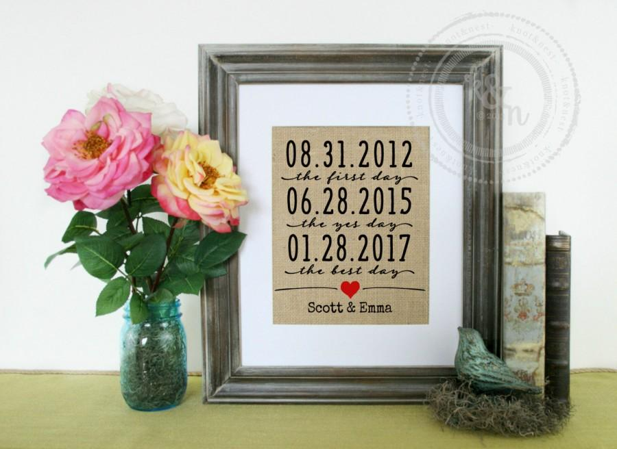 The First Day Wedding Gift Art Print Engagement For Husband Birthday Anniversary Wife Paper