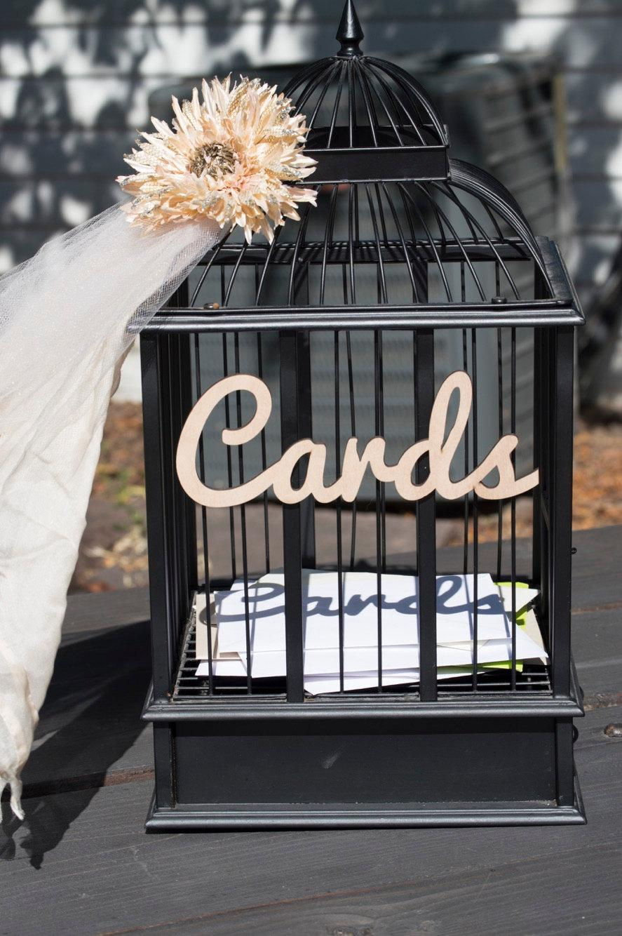 Card Sign For Wedding Cutout In Wood For Party Card Table \