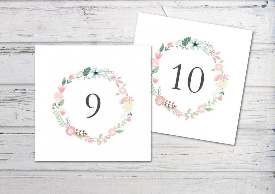 picture regarding Table Number Printable named Electronic Desk Quantity, Printable Desk Amount, Floral