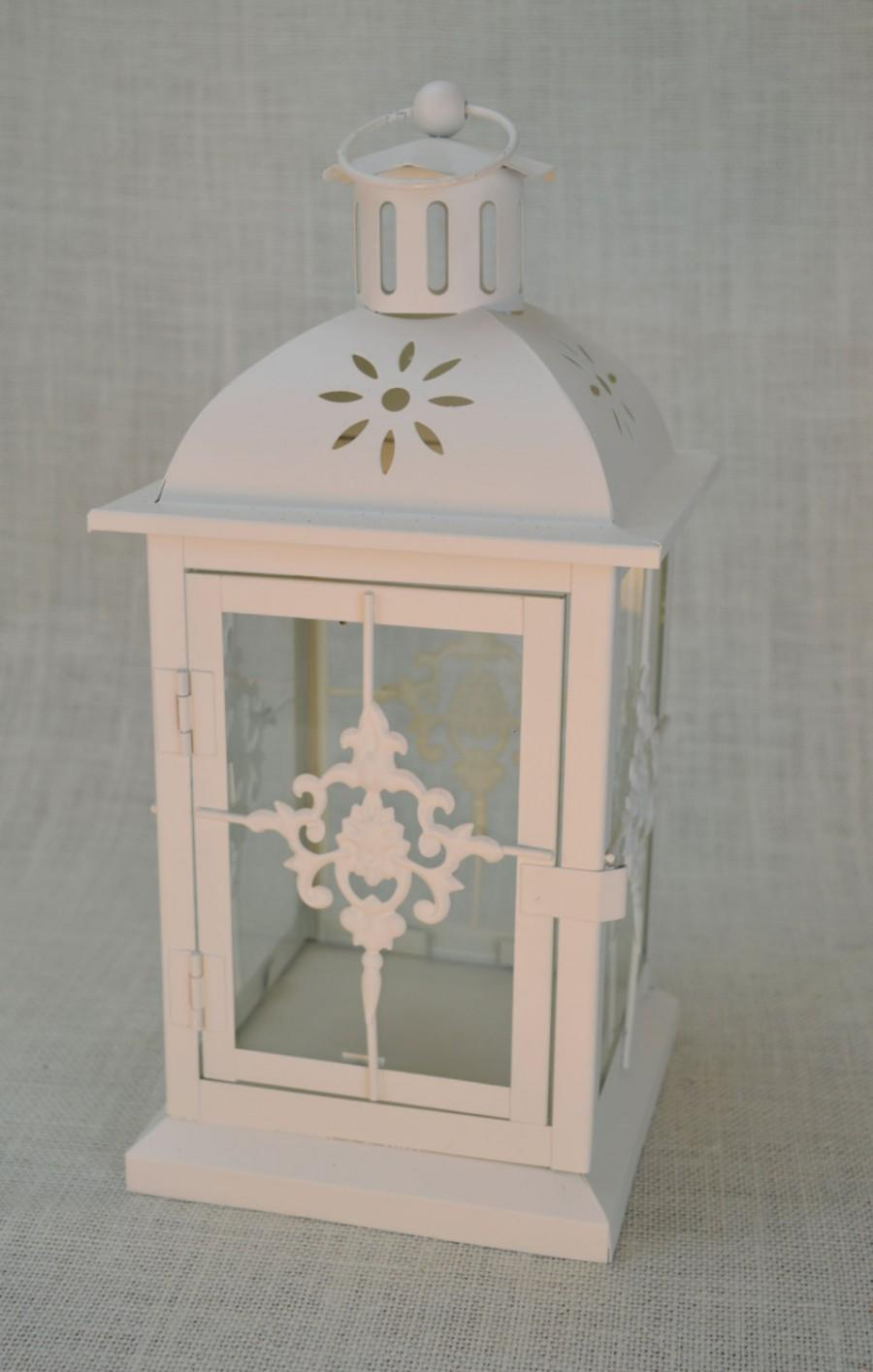 No l wedding lantern centerpiece ivory off white