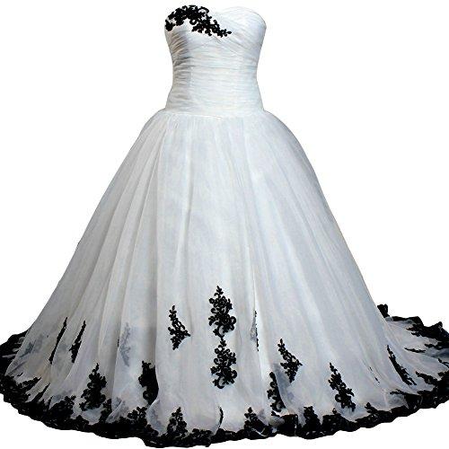 Wedding - Organza Lace Satin Sweetheart Ball Gown Wedding Dress