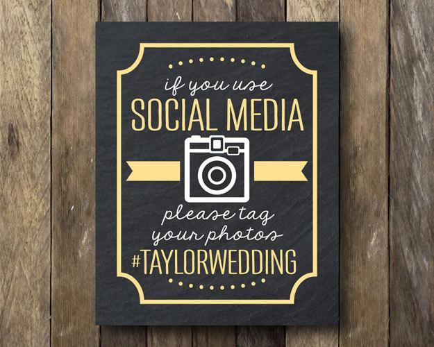 Wedding - Hashtag Wedding Printable - Social Media Sign - Wedding Hashtag Sign - Printable Hashtag Sign - Hashtag Sign Print - Wedding Hashtag