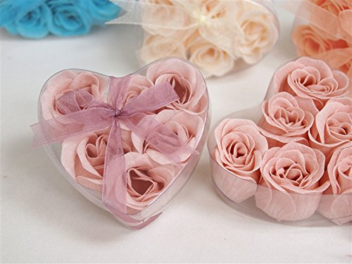 Mariage - 100 Gift Boxes with 6 Rose Soaps Wedding Favors