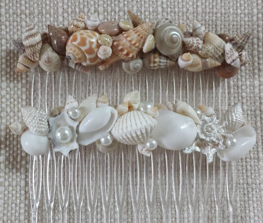 Hochzeit - Beach Wedding Hair Accessories, Beach Hair Accessories, Beach Wedding Hair Comb, Beach Hair Comb, Shell Hair Comb, Seashell Hair Comb
