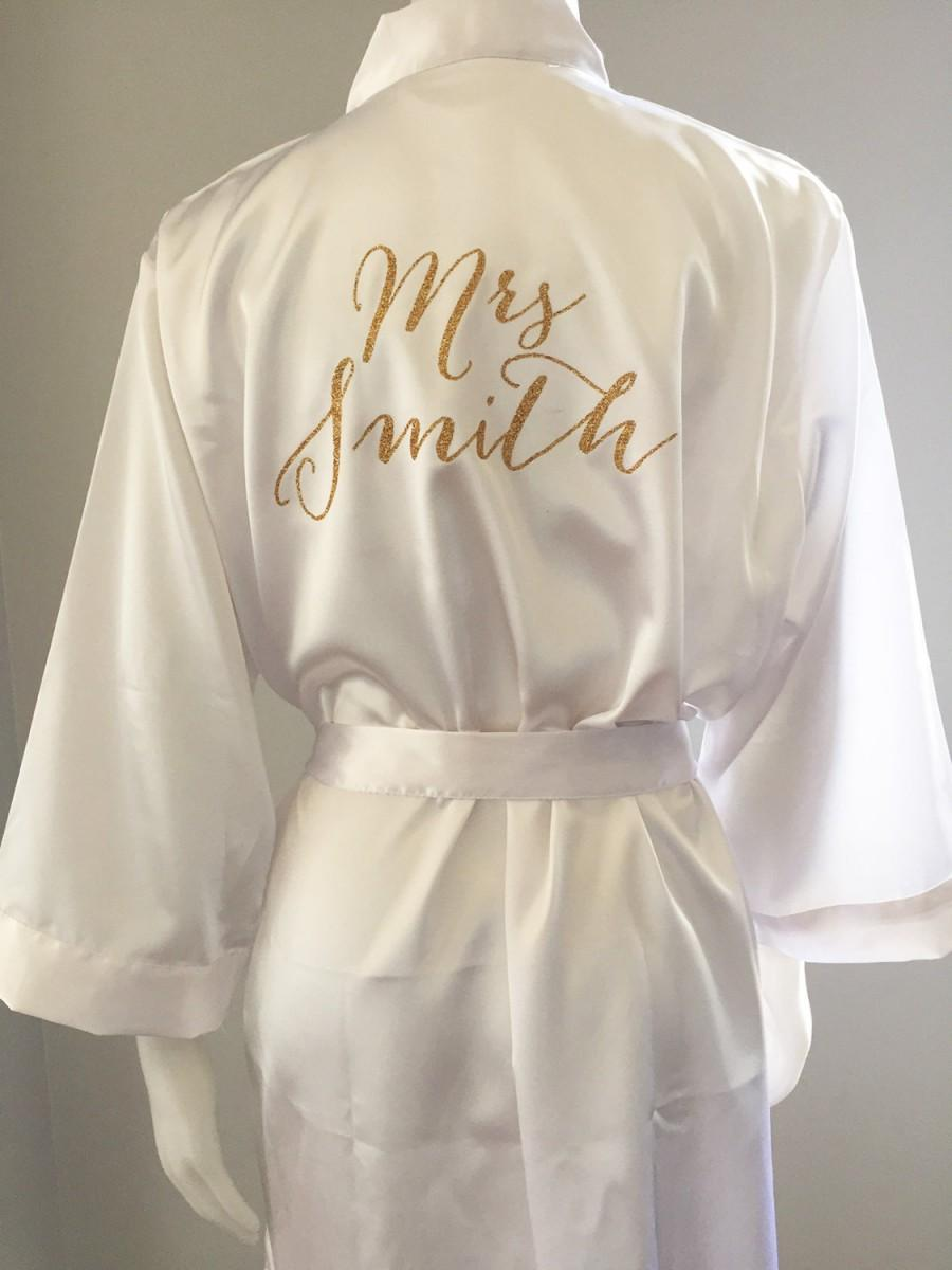 Bride Robe Wedding Day Matching Bridesmaid Robes Brideal Bridal Shower Gift