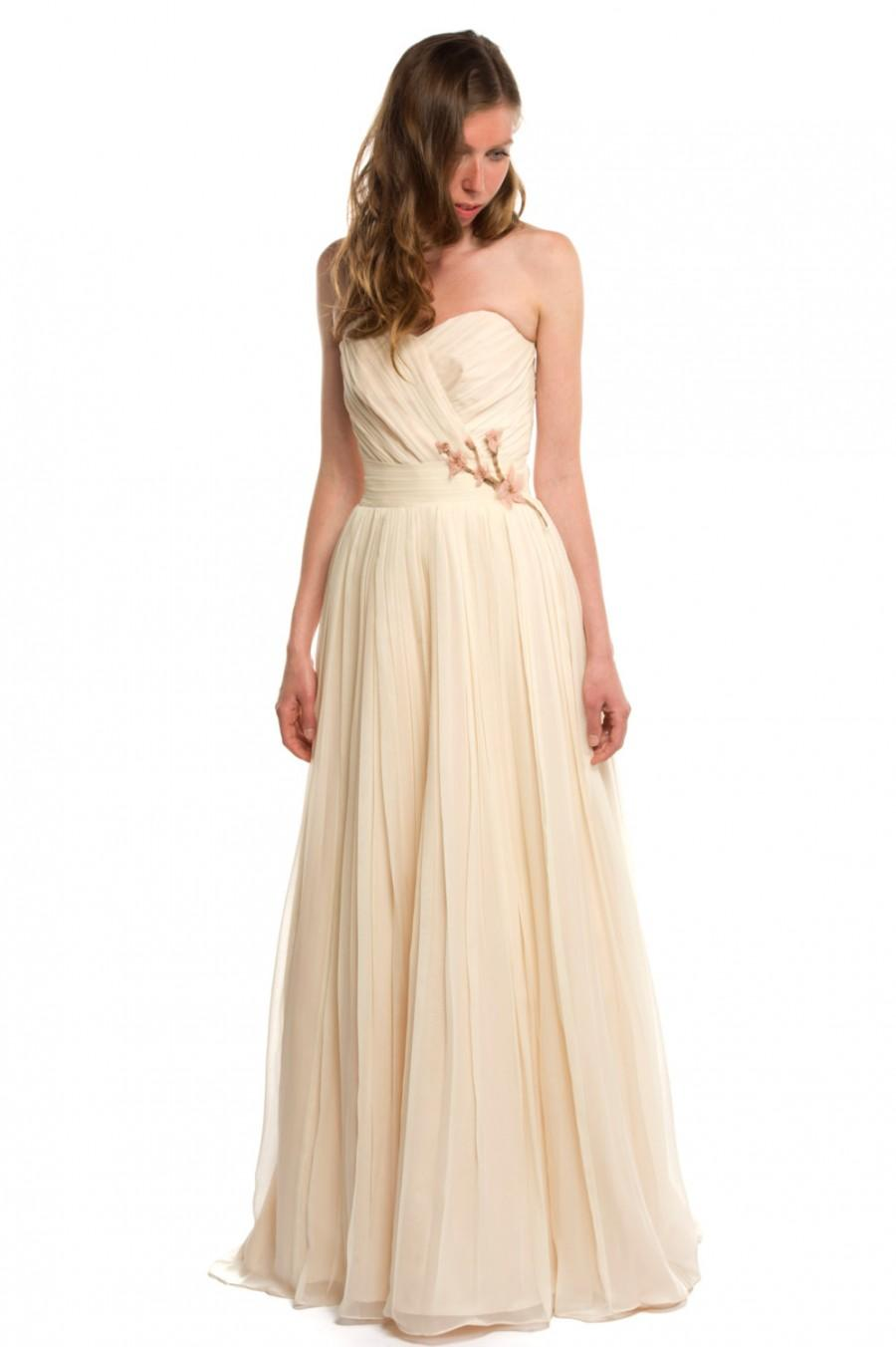 Cherry Blossom Wedding Dress, Chiffon, Custom Made To Order In Your ...