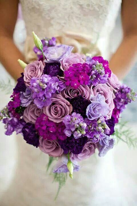 Hochzeit - Wedding Ideas: 20 Gorgeous Purple Wedding Bouquets