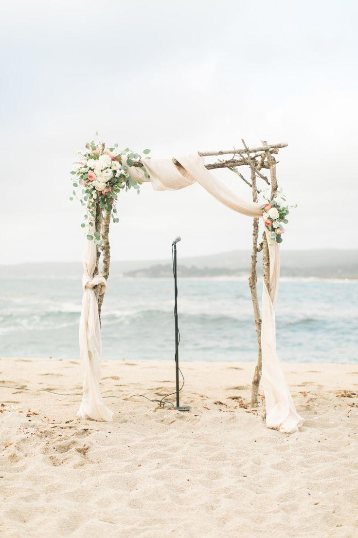 زفاف - Pink Pastel Beach Wedding In Carmel