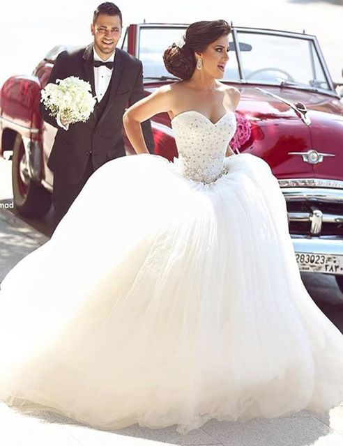 Princess bridal dress sweetheart appliques sparkly beading giltter princess bridal dress sweetheart appliques sparkly beading giltter wedding dress puffy tulle wedding gown l6112016 in wedding dresses from weddings events junglespirit Choice Image