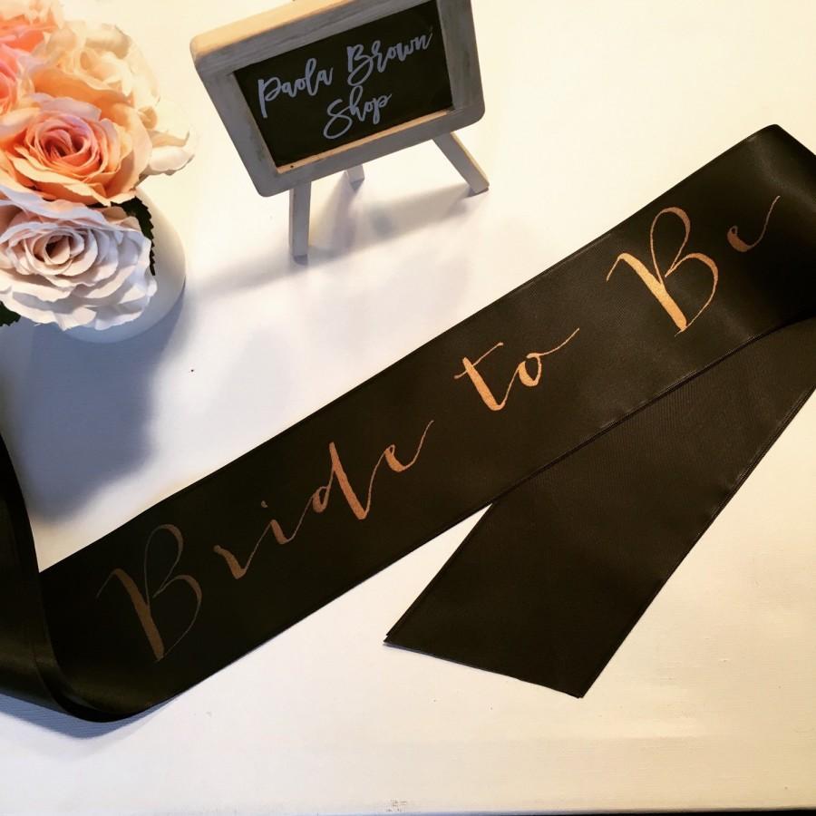 Mariage - Bride to be sash- bride sash- bachelorette party sash