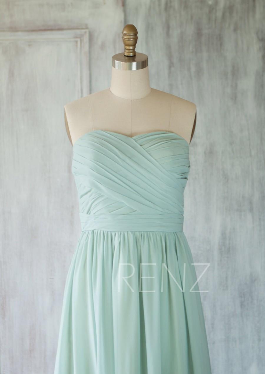 2015 Dusty Shale Chiffon Bridesmaid Dress, Short Wedding Dress ...
