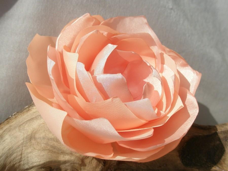 Nozze - Light Peach Flower Hair Clip Or Pin