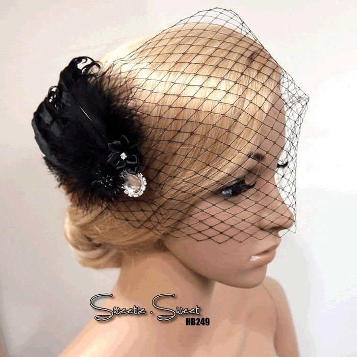 Свадьба - 1920s Comb, Flapper Comb, Bridal Comb, Flapper Veil, Bridal Veil, Fascinator, Flapper Headpiece, Bridal Headpiece, Gatsby Fascinator