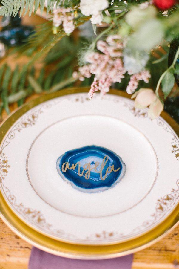 Hochzeit - Calligraphed Agate Slice