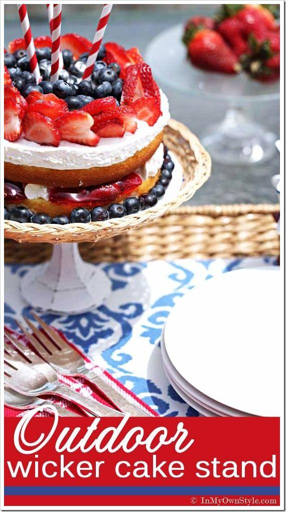 زفاف - How To Make A Wicker Or Glass Cake Stand