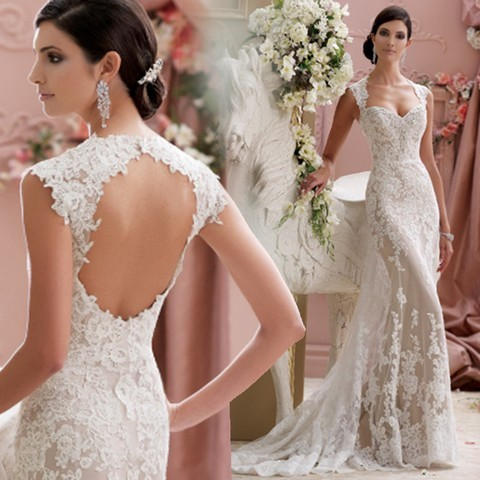 Düğün - 2016 Ball Gowns Elegant Long Lace Wedding Dress - 2015 Homedesignram