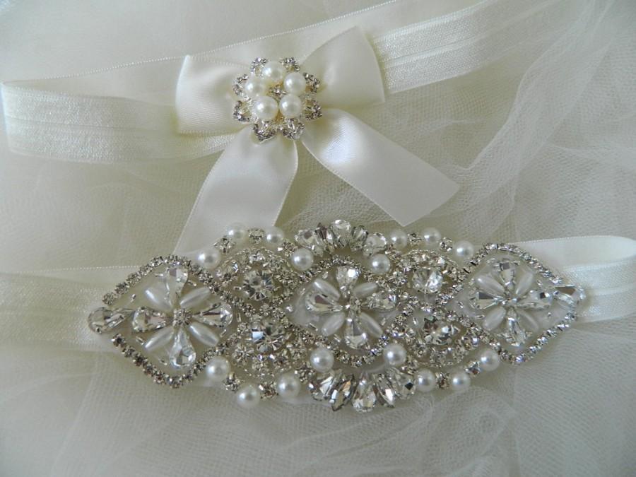 Свадьба - Wedding Garter,Bridal Garter,Garter Rhinestone Garter,Garter Belt, Garter set