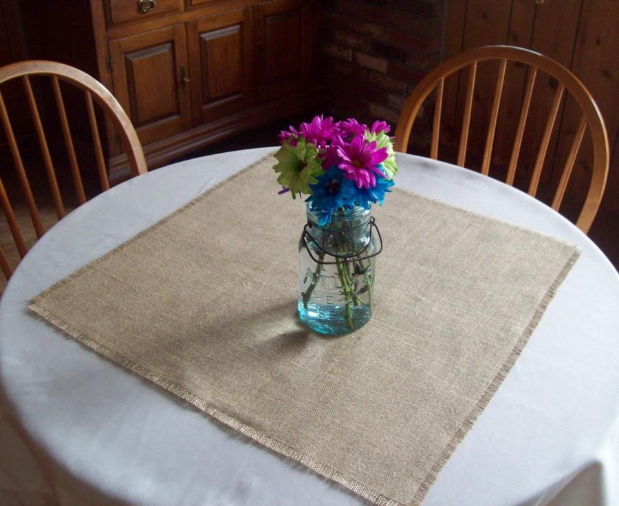 Hochzeit - Set of 10 Wedding Table Squares, Wedding Decorations, Burlap Table Squares, Sizes 24 x 24, 30 x 30, 36 x 36, Rustic Fall Wedding Table Decor
