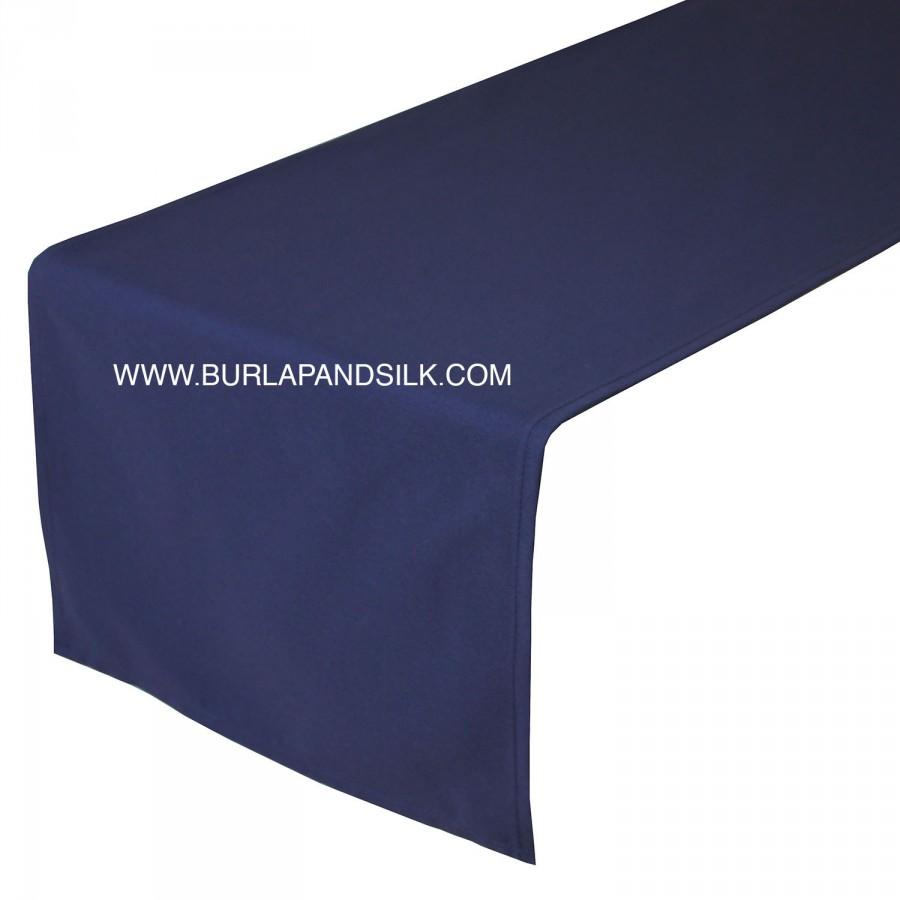 Mariage - Navy Blue Table Runner 14 X 108 inches