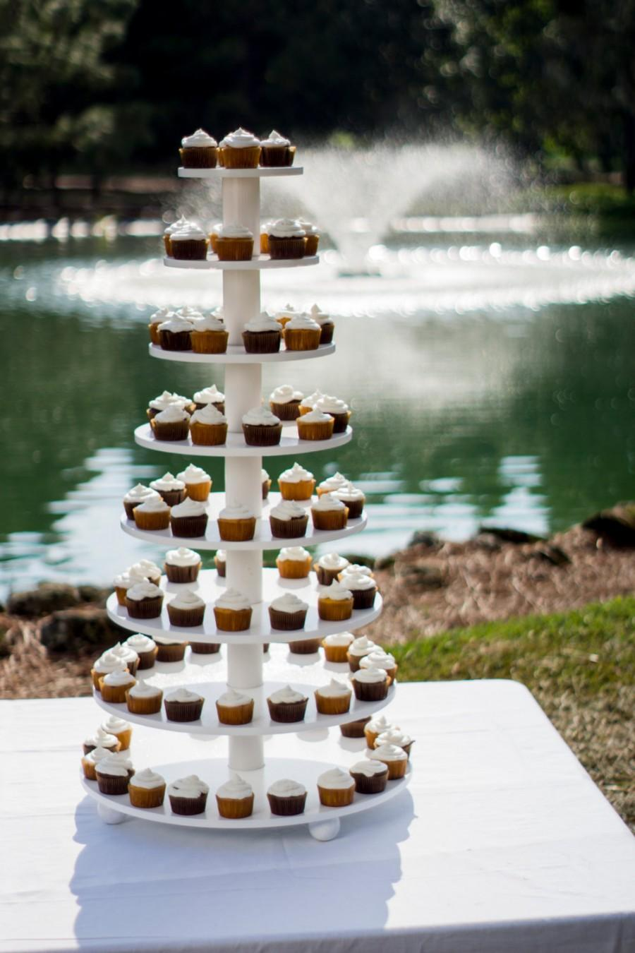 Hochzeit - Large Cupcake Tower. Holds 200. Wedding cake stand.