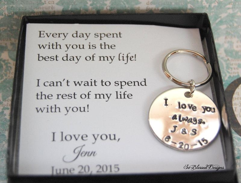 GROOM Gift From Bride Wedding Day To Groom Keepsake