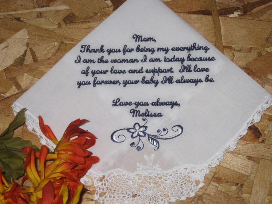 Mother Of Bride Handkerchief Personalized For
