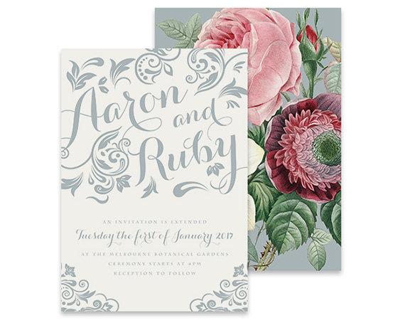 Mariage - Vintage Wedding Invitation