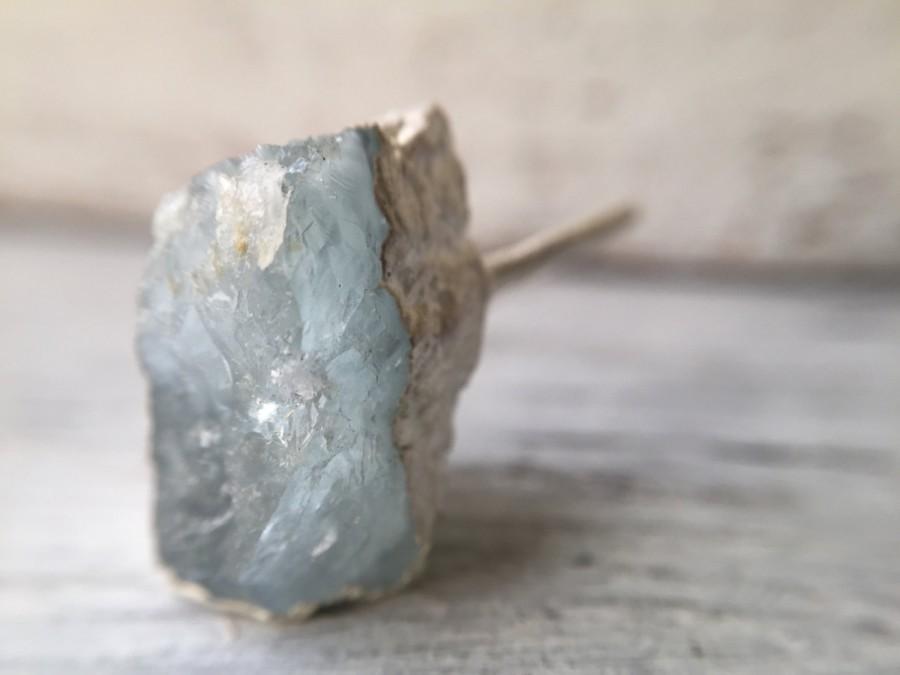 Mariage - Raw Stone Engagement Ring - Aquamarine Crystal - Unique Bridal Jewelry - Alternative Engagement Ring - Boho Lux Healing Raw Crystal Ring
