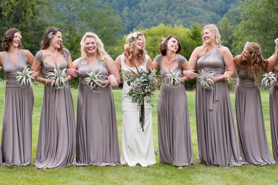 Mismatched Bridesmaids Long Maxi Dress- Choose Your Fabric ...