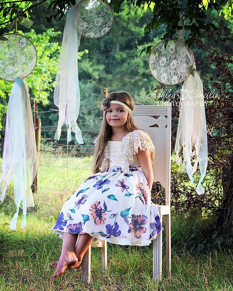 Свадьба - Flower girl dress, chiffon dress, beach dress, silk dress, custom dress, bohemian dress-The Josette dress, custom print available.
