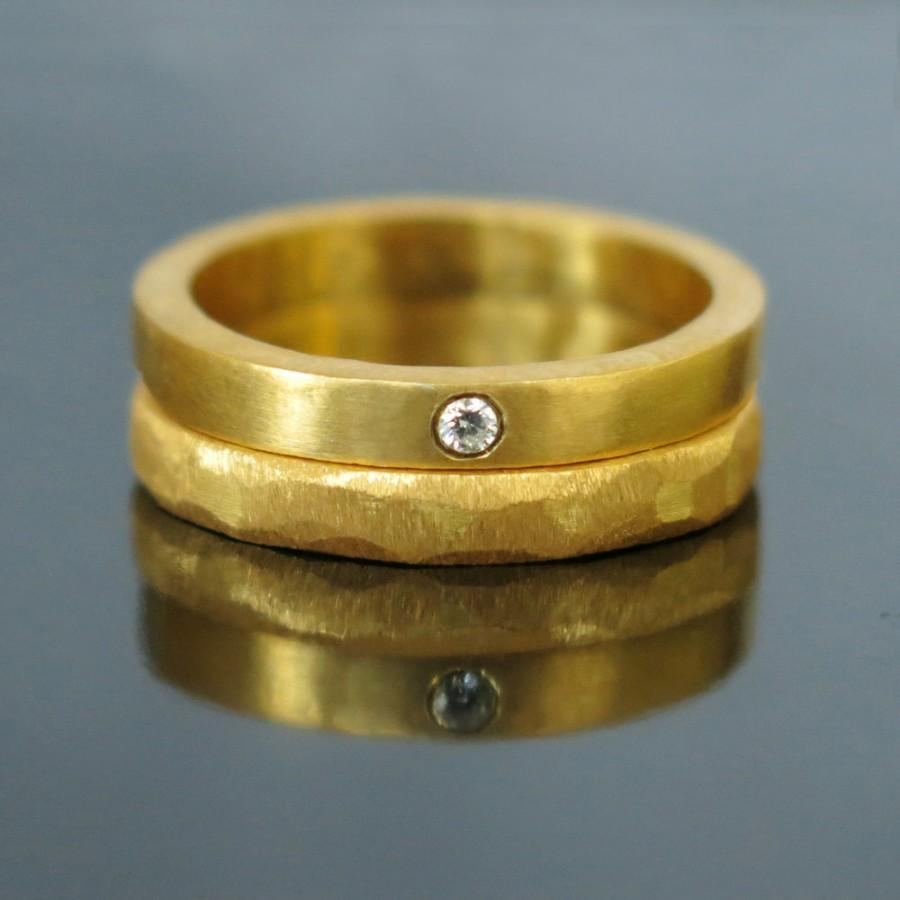 unique wedding band set, gold diamond wedding band, gold wedding