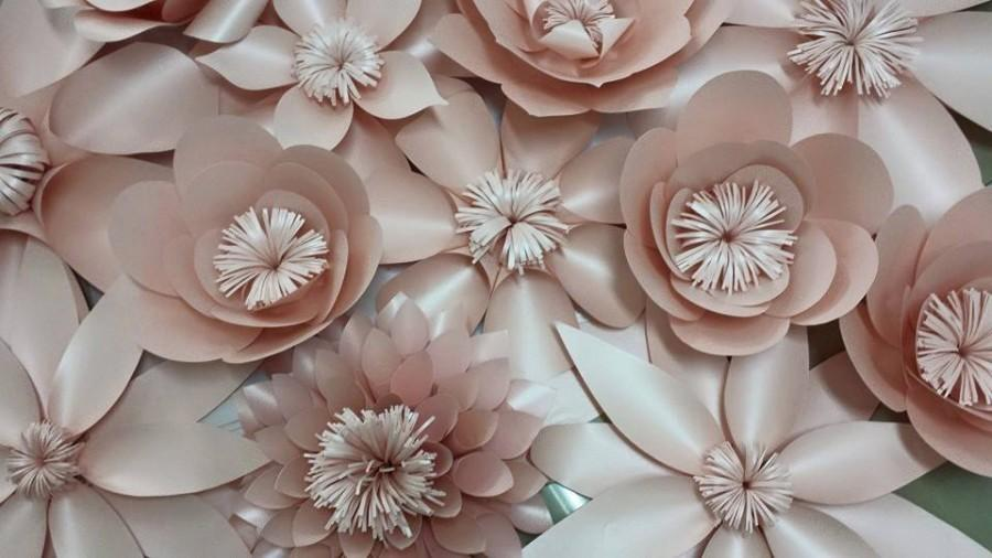 blush paper flowers backdrop 4x8ft wedding flower wedding bouquet photo prop wall flowers