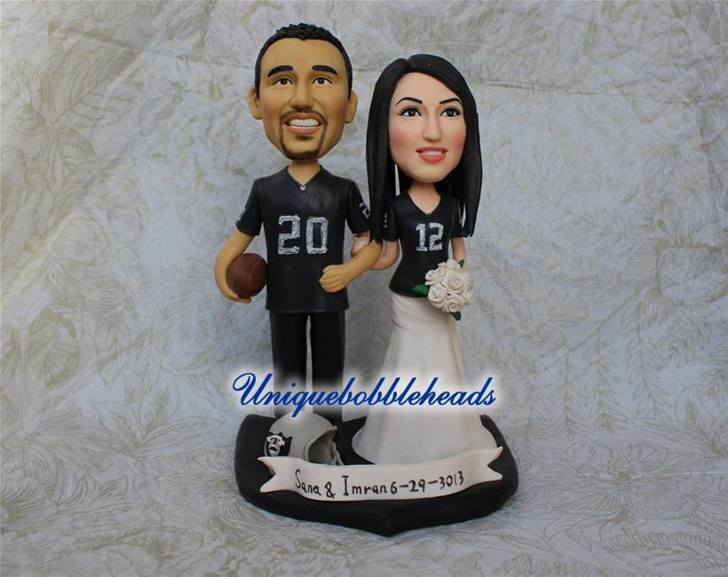 Sports Wedding Cake Topper Custom Toppers Jersey Baseball Helmet Basketball
