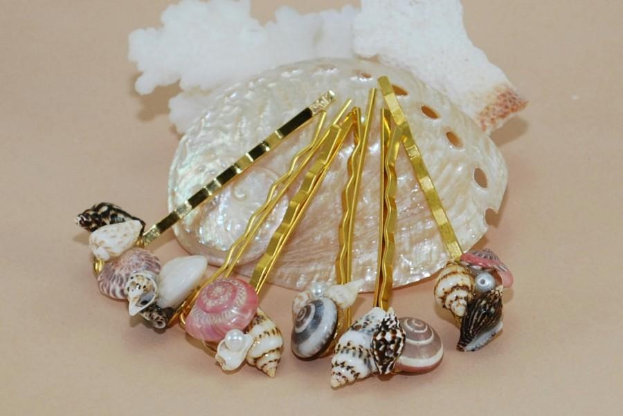 Mariage - Beach Hair Pins~Seashell Hair Accessories~Beach Bridal Hair~Beach Fashion~Gifts~For Her