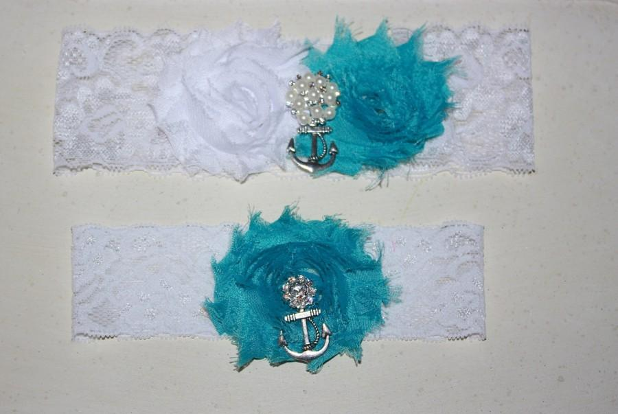 Свадьба - Anchor Garter Set More Colors