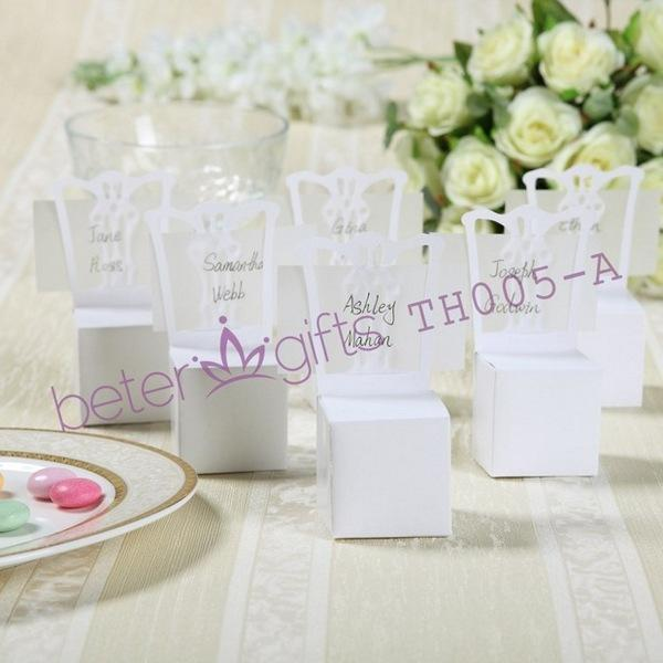 Pcs european and american wedding supplies white chair candy box pcs european and american wedding supplies white chair candy box wedding seat card th005 wedding supplies wholesale junglespirit Image collections