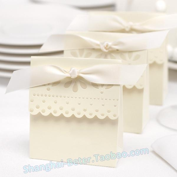 Wedding - PCS explosion models white wedding small things Ivory candy box, full moon gifts th003 birthday party gift