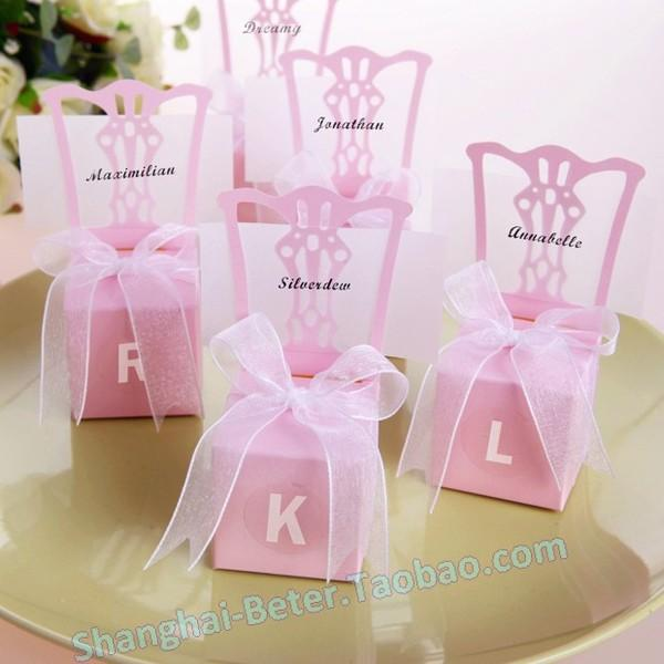 Wedding - PCS creative candy Box pink Chair candy th005 personalized candy Box wedding layout decorative