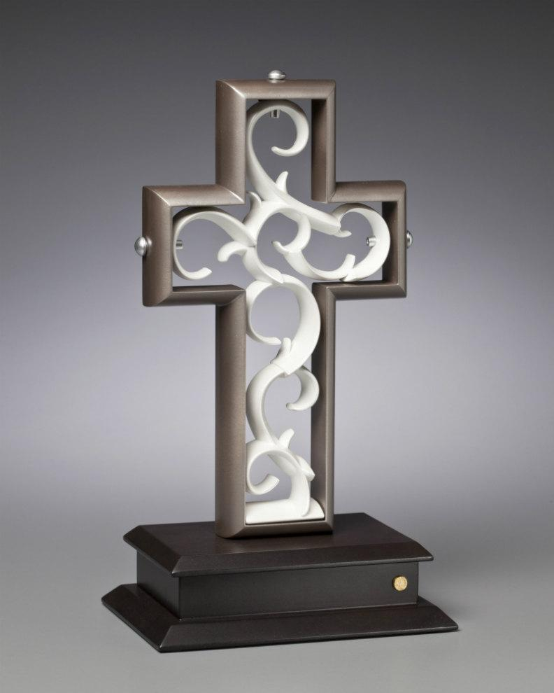 Mariage - Unity Cross® Platinum and Pearl White color