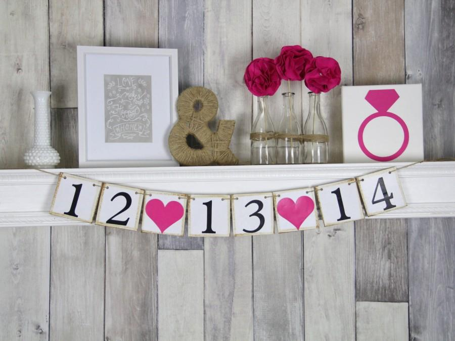 Hochzeit - Save the Date Sign, Save the Date, Wedding Sign, Photo Prop, Engagement Sign, Save the Date Prop, Save the Date Banner, Engagement Photo