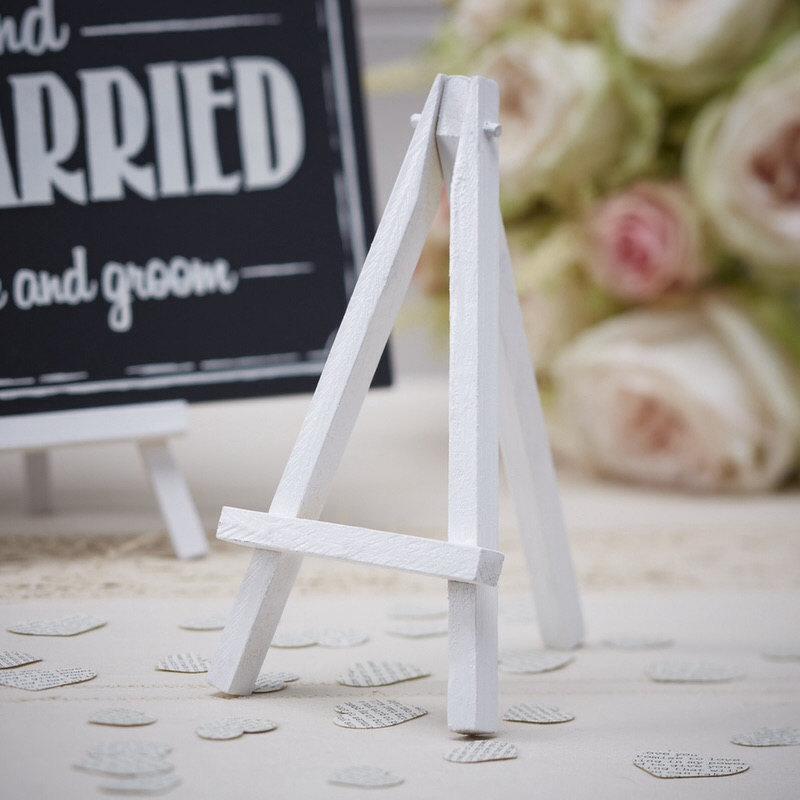 Mariage - Gorgeous Mini Wood Easel - White