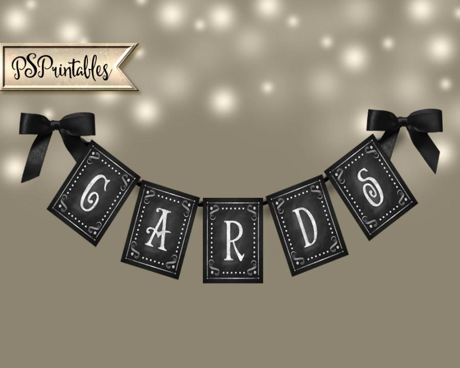 Printable Wedding Banner CARDS