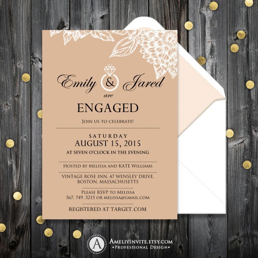 Mariage - Engagement invitation, engagement invitation printable, engagement party invitation, engagement party invite, engagement party