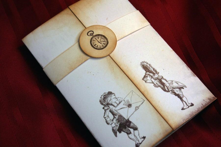 Save The Date Alice In Wonderland Invitation Vintage Appearance